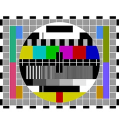 pal tv test signal vector image