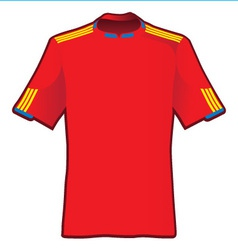 t-shirt of soccer of spain vector image