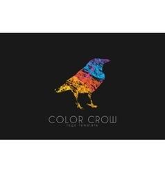Crow logo Color crow logo Bird logo vector image