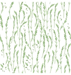 Seamless floral pattern with green twigs vector