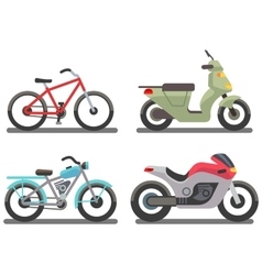 Bike and motorbike vector