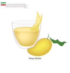 Mango sharbat or iranian drink from mango vector