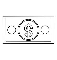 Money billet isolated flat design vector
