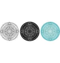 Abstract geometric mandala with bubbles vector image