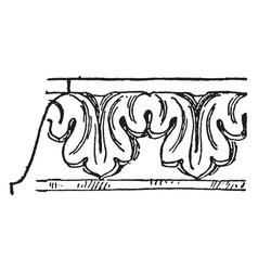 Band molding acannthus leaf enriched molding vector