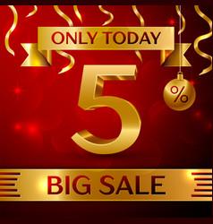 Big sale five percent for discount vector