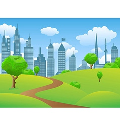 City park landscape vector image
