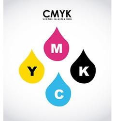 Cmyk design vector