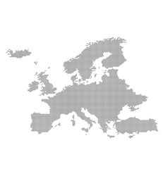 Detailed map of europe in the dot vector