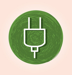 Ecology plug energy icon vector