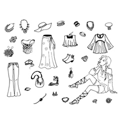 female clothing vector image vector image