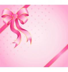 gift box ribbon vector image vector image
