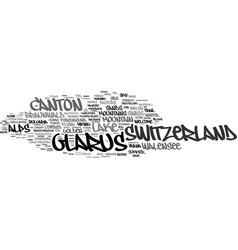 Glarus word cloud concept vector