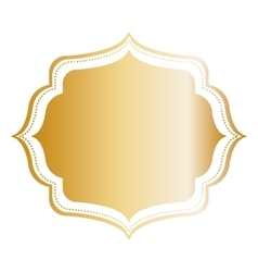 Golden ornamental insignia vector