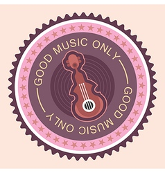 Good music only vector