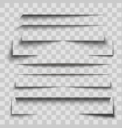 gray stripes shadows set on transparent background vector image vector image