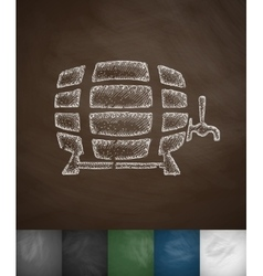 keg of beer icon vector image
