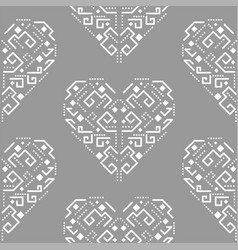 navajo heart shape ornament seamless vector image