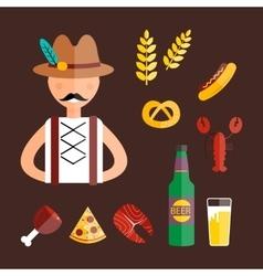 Oktoberfest man vector