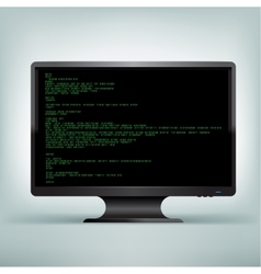 pc monitor code vector image