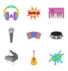piano icons set cartoon style vector image vector image
