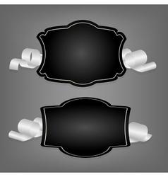 Romantic label with ribbon vetor vector image