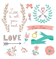 Romantic love collection vector