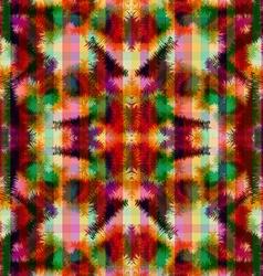 Seamless pattern hippie abstract tie dye rorschach vector