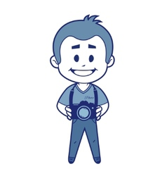 Smile photographer with camera vector image vector image