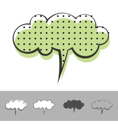 speech balloon vector image vector image