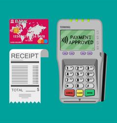 Terminal receipt card vector