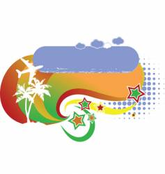tropical avian vacation logo vector image vector image