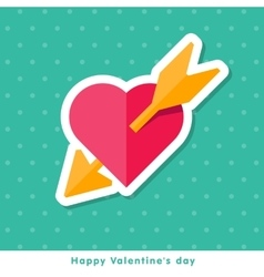 Valentine day icon in flat style vector image