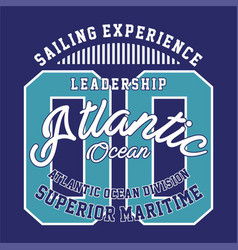 Leadership atlantic ocean vector