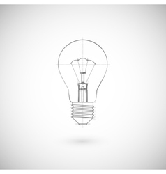 Of lightbulb vector