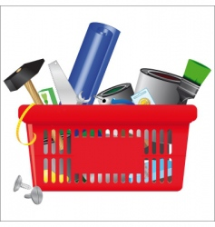 Icon of  shopping cart vector