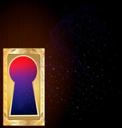 golden keyhole vector image