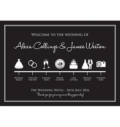 Wedding timeline vector
