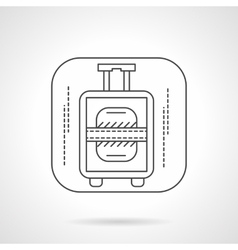 Luggage icon flat line design icon vector