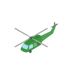 Military helicopter icon isometric 3d style vector