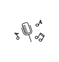 Microphone recording icon vector