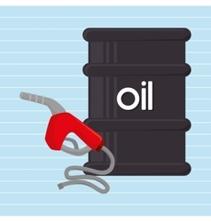 Gasoline and oil isolated icon design vector