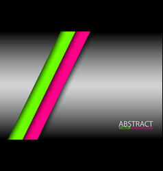 abstract background with two bright stripes pink vector image vector image