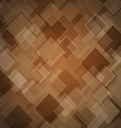 Abstract brown background with rhombus vector