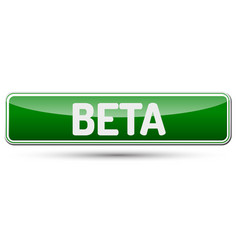 Beta - abstract beautiful button with text vector
