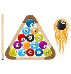billiard ball in flame vector image