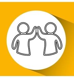 business teamwork people vector image vector image
