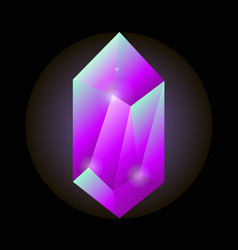 crystal gemstone or precious gem stone icon vector image vector image
