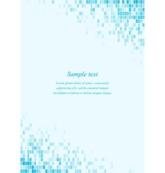Cyan page corner design template vector