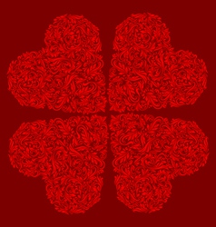 Decorated red heart vector image